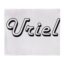 Uriel Classic Style Name Throw Blanket