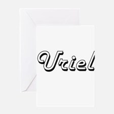 Uriel Classic Style Name Greeting Cards