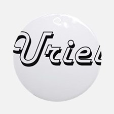 Uriel Classic Style Name Ornament (Round)
