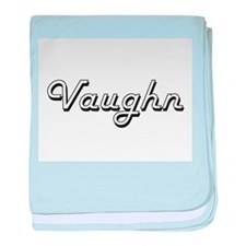 Vaughn Classic Style Name baby blanket