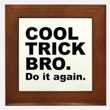 Cool Trick Bro Framed Tile