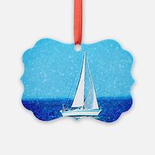 Sailboat at sea Ornament