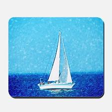 Sailboat at sea Mousepad