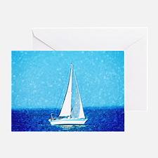 Sailboat at sea Greeting Card
