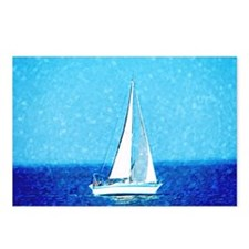 Sailboat at sea Postcards (Package of 8)