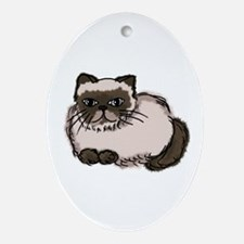 Himalayn Cat Lover Oval Ornament