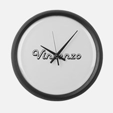 Vincenzo Classic Style Name Large Wall Clock