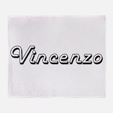 Vincenzo Classic Style Name Throw Blanket