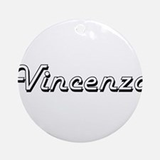 Vincenzo Classic Style Name Ornament (Round)