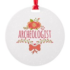 Cute Floral Gifts For Archeologist Ornament