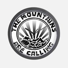 The Mountains are Calling. Wall Clock