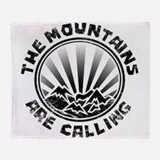 The Mountains are Calling. Throw Blanket