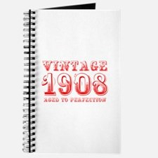 VINTAGE 1908 aged to perfection-red 400 Journal