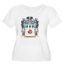 Burnett Coat of Arms - Family Cr Plus Size T-Shirt