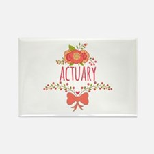 Cute Floral Gifts For Actuarists Rectangle Magnet