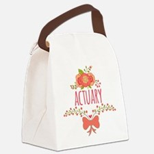 Cute Floral Gifts For Actuarists Canvas Lunch Bag