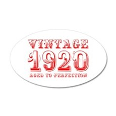 VINTAGE 1920 aged to perfection-red 400 Wall Decal