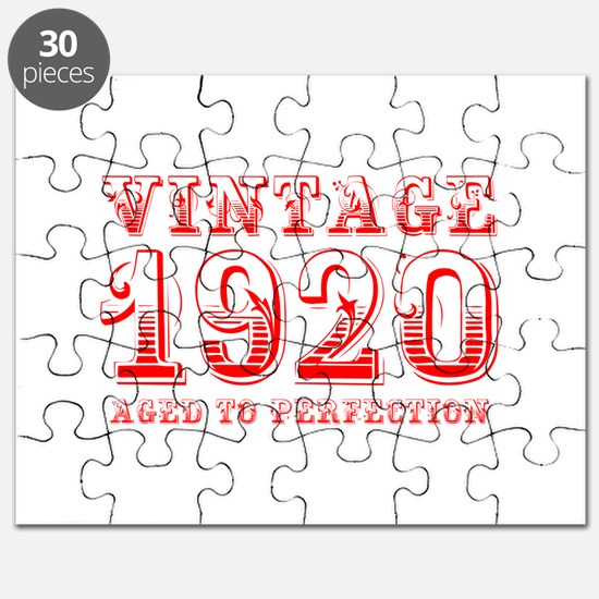 VINTAGE 1920 aged to perfection-red 400 Puzzle