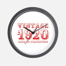 VINTAGE 1920 aged to perfection-red 400 Wall Clock