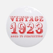 VINTAGE 1923 aged to perfection-red 400 Ornament (