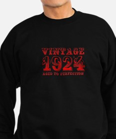 VINTAGE 1924 aged to perfection-red 400 Sweatshirt