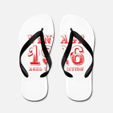 VINTAGE 1926 aged to perfection-red 400 Flip Flops