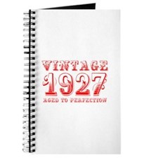 VINTAGE 1927 aged to perfection-red 400 Journal