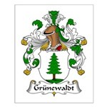 Grunewaldt Family Crest Small Poster
