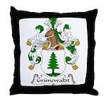 Grunewaldt Family Crest Throw Pillow