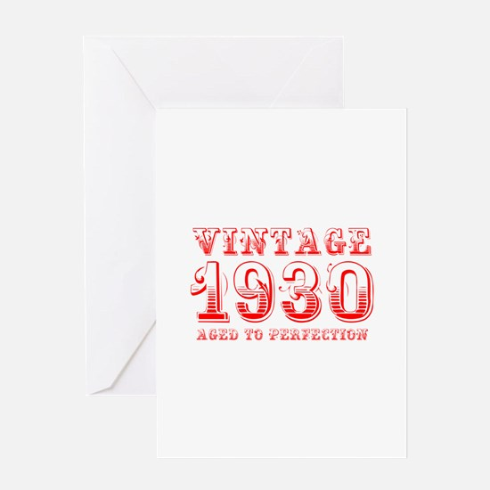 VINTAGE 1930 aged to perfection-red 400 Greeting C