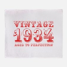 VINTAGE 1934 aged to perfection-red 400 Throw Blan