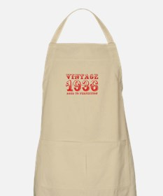 VINTAGE 1936 aged to perfection-red 400 Apron