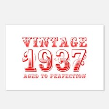 VINTAGE 1937 aged to perfection-red 400 Postcards
