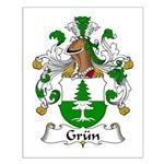 Grun Family Crest  Small Poster