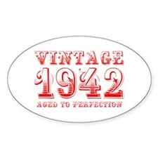 VINTAGE 1942 aged to perfection-red 400 Decal