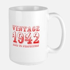 VINTAGE 1942 aged to perfection-red 400 Mugs