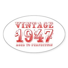 VINTAGE 1947 aged to perfection-red 400 Decal