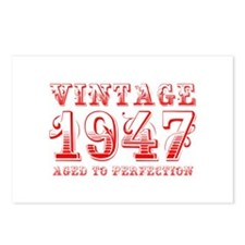 VINTAGE 1947 aged to perfection-red 400 Postcards