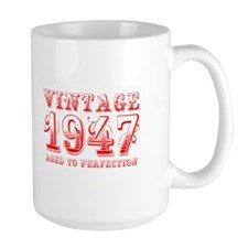 VINTAGE 1947 aged to perfection-red 400 Mugs