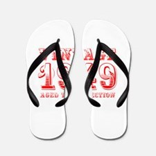 VINTAGE 1949 aged to perfection-red 400 Flip Flops