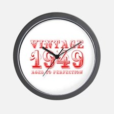 VINTAGE 1949 aged to perfection-red 400 Wall Clock