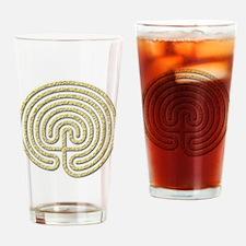 7-circuit labyrinth Drinking Glass