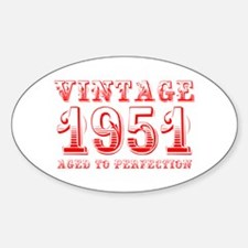 VINTAGE 1951 aged to perfection-red 400 Decal