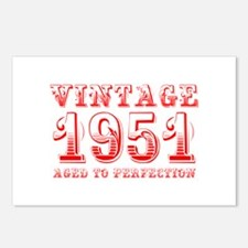 VINTAGE 1951 aged to perfection-red 400 Postcards