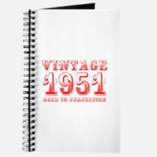 VINTAGE 1951 aged to perfection-red 400 Journal