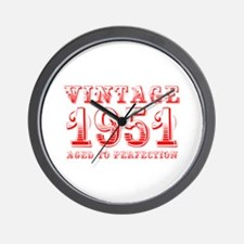 VINTAGE 1951 aged to perfection-red 400 Wall Clock