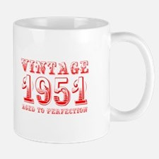 VINTAGE 1951 aged to perfection-red 400 Mugs