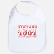 VINTAGE 1951 aged to perfection-red 400 Bib