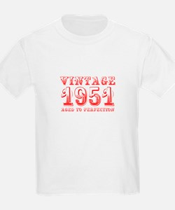 VINTAGE 1951 aged to perfection-red 400 T-Shirt