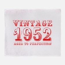 VINTAGE 1952 aged to perfection-red 400 Throw Blan